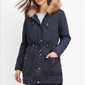 Dark Navy blue parka Nwot